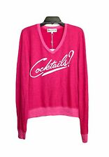 New Wildfox Couture Womens Another Round Cocktail Pullover Sweater Top Shirt