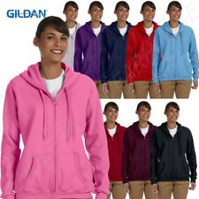 Gildan Hoodie Sweatshirt Hoody Ladies 8oz Heavy Blend 50/50 Full-Zip G186FL