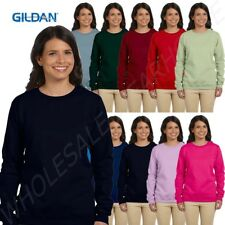 Gildan Ladies 8 oz Heavy Blend 50/50 Crew Plain Sweatshirt MG180FL