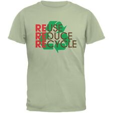 Earth Day - REduce REuse REcycle Serene Green Adult T-Shirt