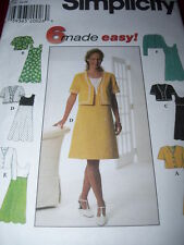 SIMPLICITY #7511 - LADIES ( 6 STYLE ) SUMMER DRESS & SHORT JACKET PATTERN 6-16uc