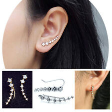 Fashion  1 Pair Ear Hook 18K GP White & Gold Beautiful Element Crystal Earring