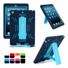 Defender Stand Rubber Heavy Duty Hybrid Hard Soft Case Cover For Apple iPad Air