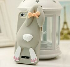 Cover silicone Iphone 4 4S 5 5S 6 coniglio Moschino style rabbit silicon case