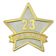 PinMart's 23 Year Service Award Star Corporate Recognition Dual Plated Lapel Pin