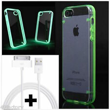 CABLE USB SYNC + COQUE SLIM BUMPER FLUO pour IPHONE 4/4S ★ETUI HOUSSE CASE COVER
