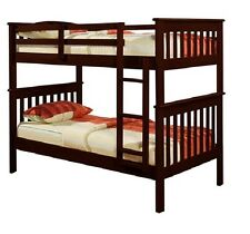 Donco Kids Mission twin over twin pine bunk bed dark cappuccino 120-3H. FREE SH