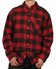 Case IH Men's Classic Buffalo Plaid Button Front Long Sleeve Flannel Shirt