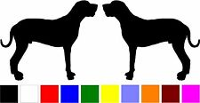 2 Great Dane (A) dog breed silhouette home car windows vinyl decals stickers
