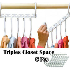 8 PC Space Saver Wonder Magic Hanger Hook Closet Organizer