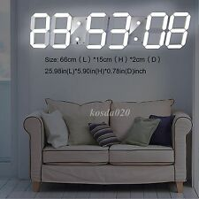 3D Remote Large Number Led Clock Digital Wall Timer 4 Digit Big Screen Stopwatch