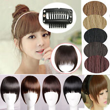 Girl One piece clip in hair extensions Bangs Fringe with hair bangs Headband 4I6