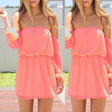 New Sxey Women Summer Chiffon Loose Party Evening Prom Cocktail Short Mini Dress