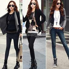 Fashion Womens Slim Ladies Coat Blazer Jacket Casual Zipper Suit Outwear M/L