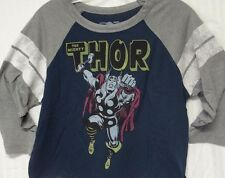 Marvel Comics New Licensed Blue (Avengers Thor Classic Drawing) Crop T-shirt