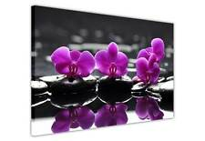 PURPLE ORCHIDS ON WATER CANVAS PRINTS WALL ART IMAGES HOME DECOR PICTURES POSTER