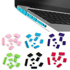 6Colors 9pcs Silicone Anti Dust Plug Ports Cover Set for Macbook Pro 13 15