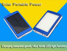Upgraded 50000mAh Solar Power Bank 2-USB For Iphone6 Samsung 20pc LED Camp Light