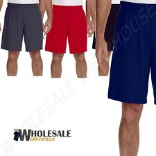 NEW Gildan 100 % Polyester Mens Dri-Fit 9 Inch Shorts with Pockets S-3XL MG44S30