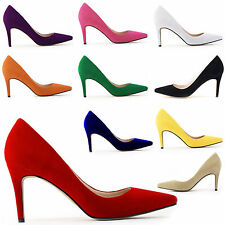 Multi Colors Women Shoes Sexy Suede High Heels Pointed Work OL Shoes Pumps Court