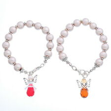 Charms Bracelet Imitated Pearl Beads With Angel Pendant Chic