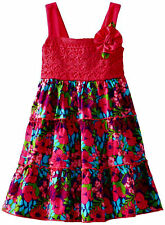 Youngland Baby Girls Colorful All Over FloralPrint Sundress Brand New