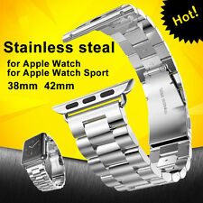 New Stainless Steel Watch Band Belt Classic Buckle Adapter Strap For Apple Watch