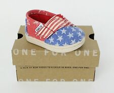Toms Tiny Classics Red Canvas Stars And Stripes USA