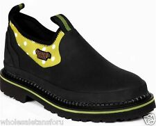NEW $70 RV GEORGIA BOOT MUD DOG GIRLS WATERPROOF SLIP ON SHOES BLACK & GREEN