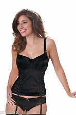 Bravissimo Satin Boned Basque with Suspenders & Matching Briefs Chest Size 34
