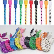 Style Braided USB Charger Cable Data Sync Charge Cord for iPhone 5 5C 5S 6 6+