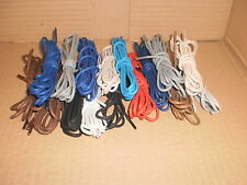 2.5mm WAXED COTTON ROUND SHOE/BOOT SHOELACES  6 SIZES 12 COLOURS