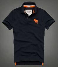 Abercrombie and Fitch Mens polo shirts-Mens A & F-Mens Polo shirt- Navy-S to XXL