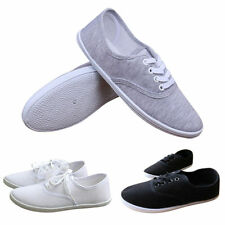 Classic Women Flat Canvas Shoes Ladies Lace Up Casual Sneakers Sports Shoes