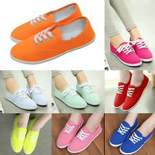 Girl Stylish Multi Color Womens Low Top Sneaker Shoe Casual Running Canvas Shoes