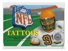 10 BRAND NEW NFL FOOTBALL MINI FACE TATTOOS HELMETS & LOGOS YOU PICK A TEAM