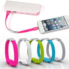 Portable Bracelet Wrist Band USB Charging Data Sync Cable For Phone 5/5s 5C 6