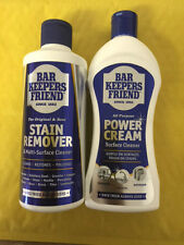 Bar Keepers Friend Stain Remover or Power Cream Multi Purpose Surface Cleaner