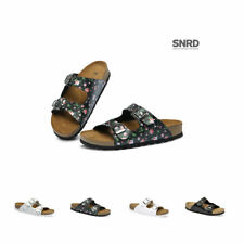 New SNRD SN216 Two Buckle Straps Uppers Cork Women Slide Sandal Flip Flop Thong