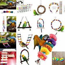 Swing Bird Toy Parrot Rope Harness Cage Toys Parakeet Cockatiel Budgie