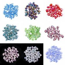 100pcs Crystal Drop Spacer Loose Beads 8x6mm Jewelry Making DIY AB Color For DIY