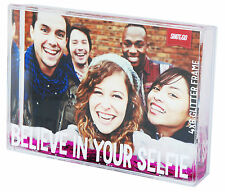 BELIEVE IN YOUR SELFIE - ACRYLIC PHOTO BLOCK- INSERT YOUR OWN 4 x 6 PHOTO