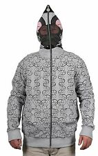 Flow Society Full-Zip Cotton Blend Lax Rat Face Mask Lacrosse Hoodie