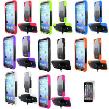 Tactical Dual Layer Hybrid Combo Stand Cover Protector Phone Case Apple iPhone 6