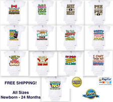 NEW FUNNY CUTE HIPSTER Onesie® Baby bebe ropa T-SHIRT clothes bodysuit All sizes