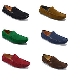 MENS ITALIAN MOCCASIN LOAFERS CASUAL PARTY SLIP ON SHOES SIZES 6 7 8 9 10 11