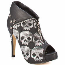 IRON FIST RUFF RIDER WOMEN BLACK SILVER BOOTIE US SIZES
