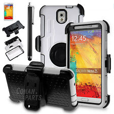 for Samsung Galaxy Note3 heavy duty defensive case w/Belt Clip&screen protector
