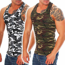Megaman Herren Tank Top Camouflage Army Muster Muskelshirt Muscle t-shirt tee
