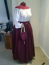 VICTORIAN/AMERICAN CIVIL WAR THEATRICAL EMBROIDERED SKIRT ANY SIZE ANY COLOUR